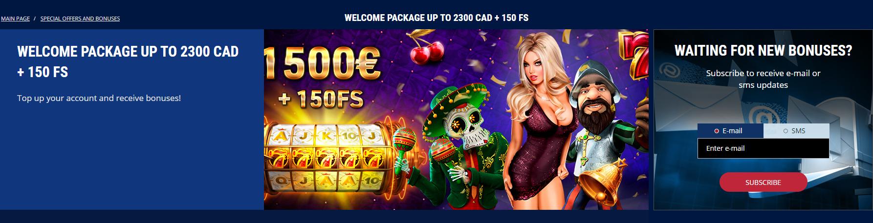 Casino Z welcome bonus